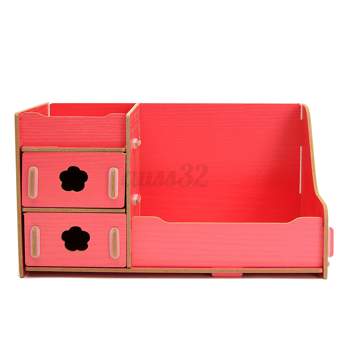 Wooden storage box cosmetics multifunctional diy makeup - Cute desk organizer ...