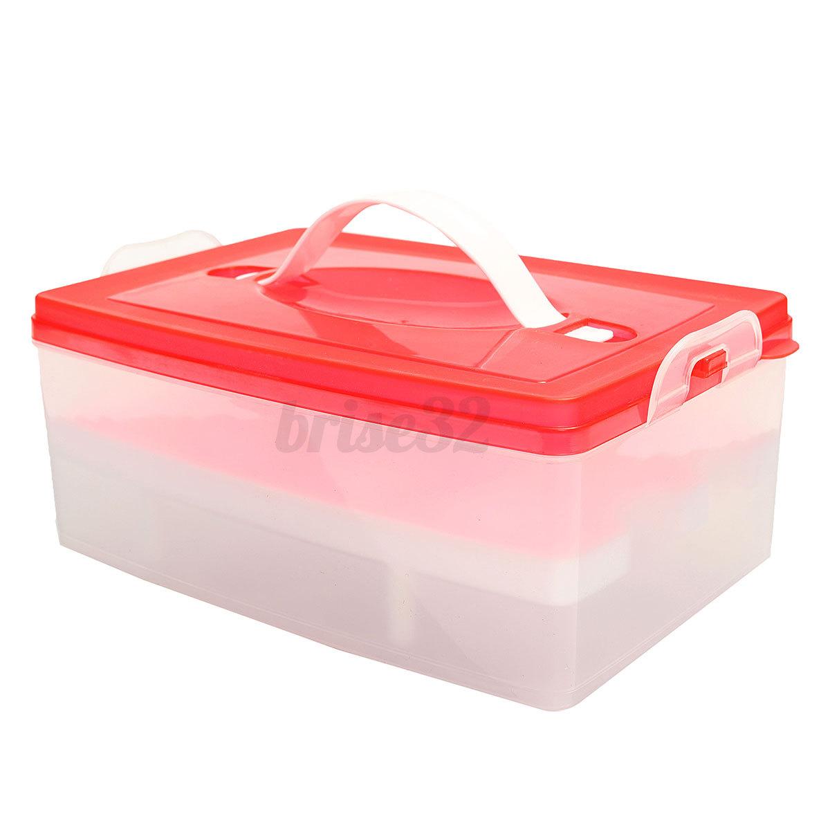 Plastic Double Layer Kitchen Storage Organizer Egg Holder Keeper Container Box Ebay