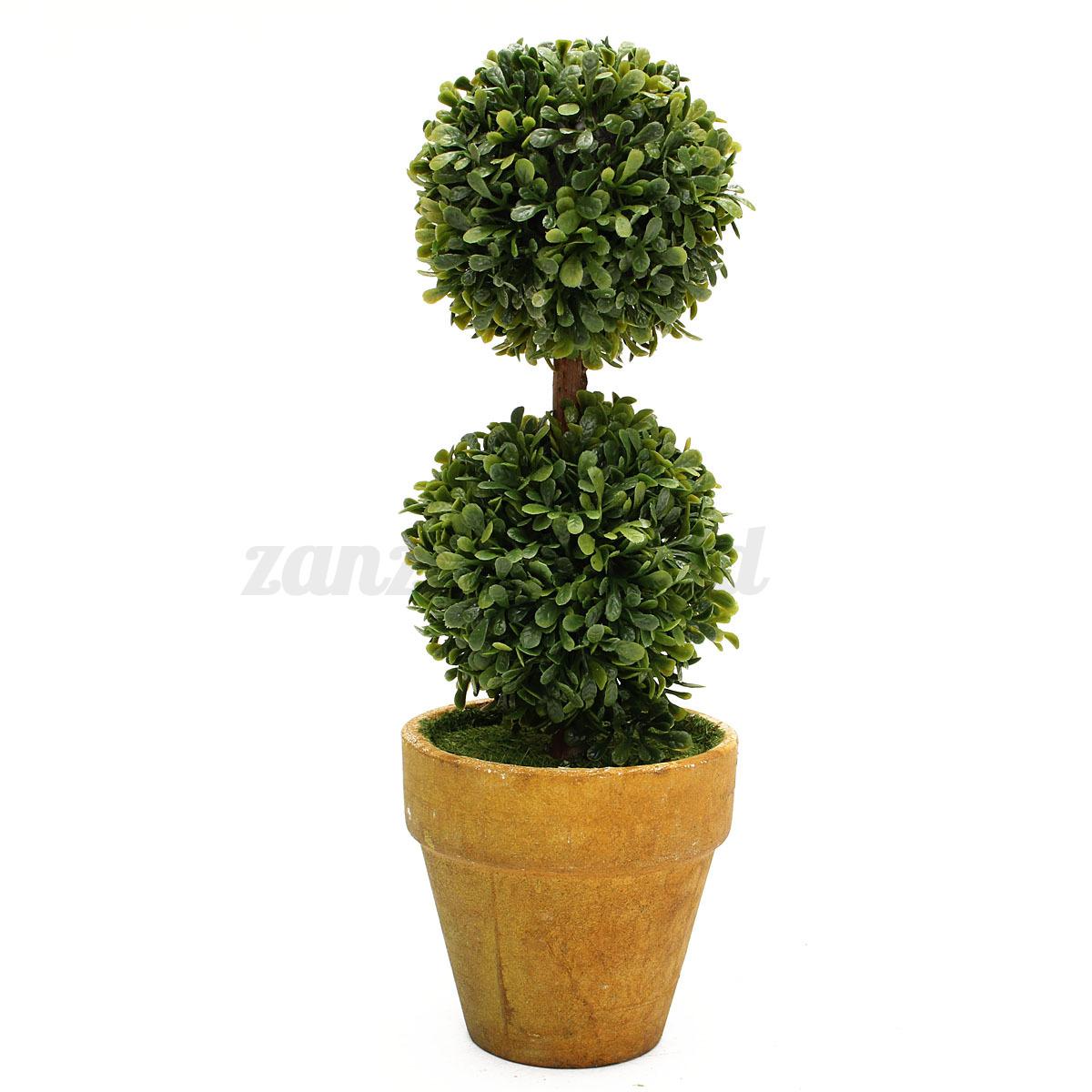 Artificial plastic trees in pots plants potted decor garden yard outdoor indoor ebay - Indoor potted flowers ...