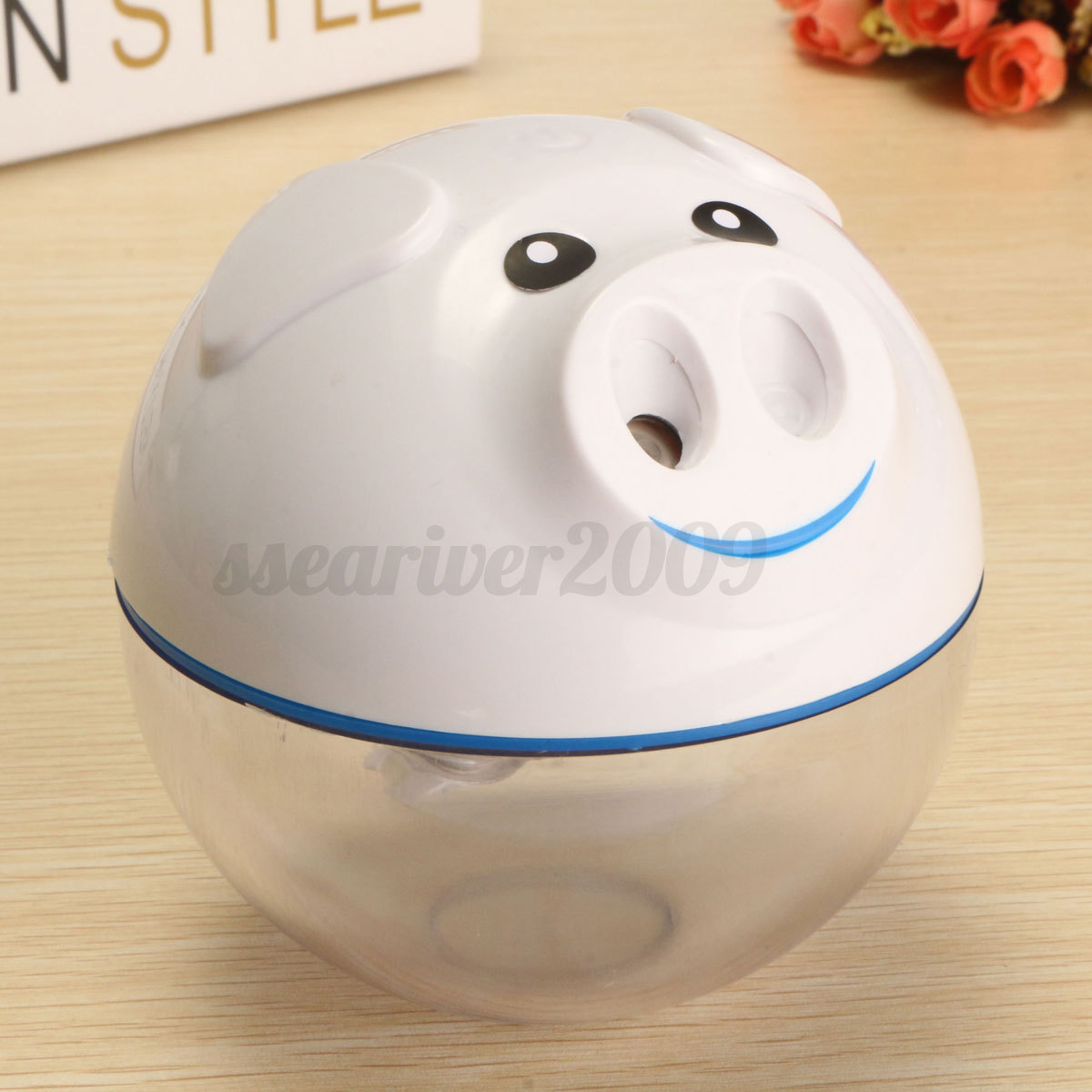 Cute Mini Pig Shaped USB Humidifier Air Purifier Aroma Essential Oil  #B33918