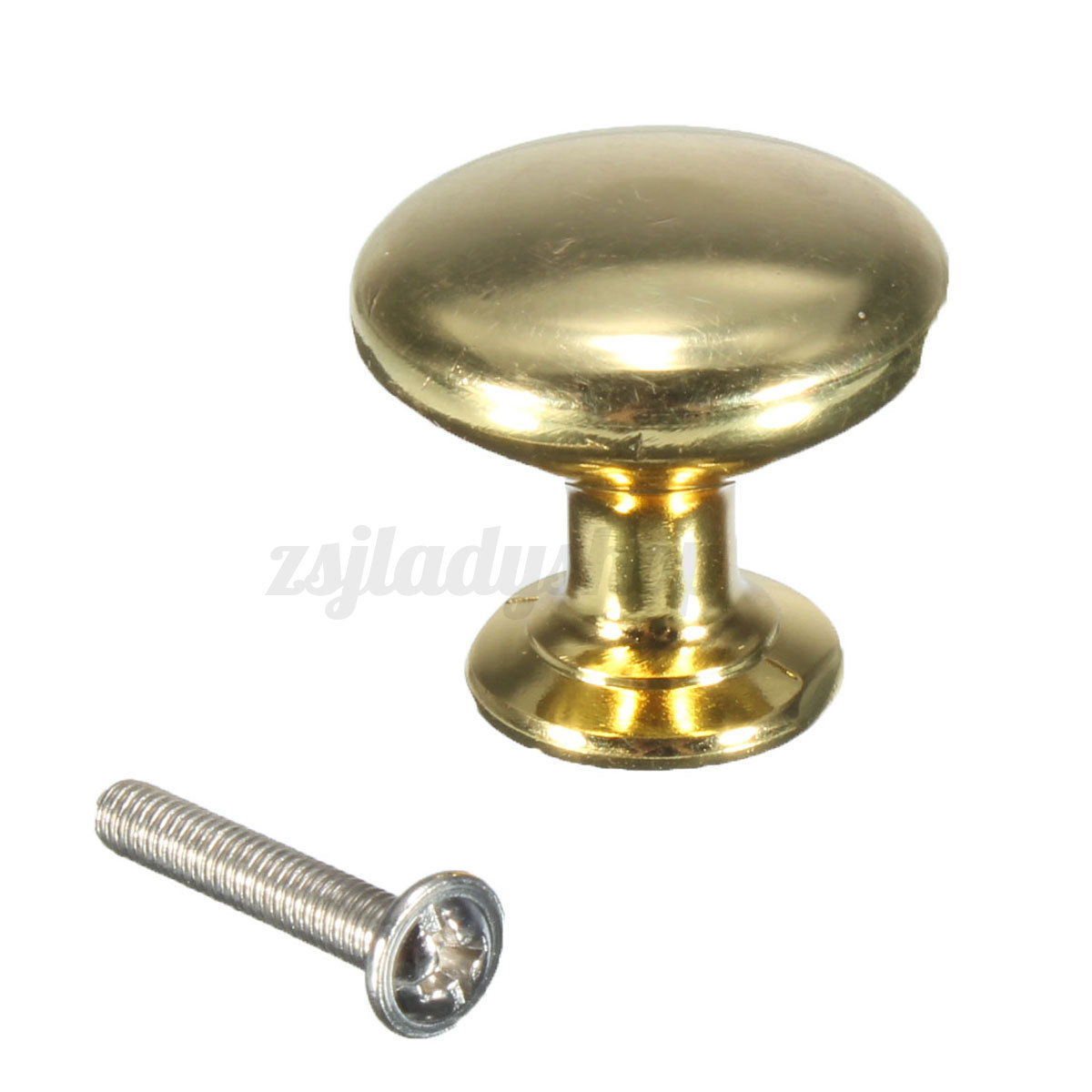 30mm round cupboard kitchen drawer furniture door cabinet pull knob handle brass ebay. Black Bedroom Furniture Sets. Home Design Ideas