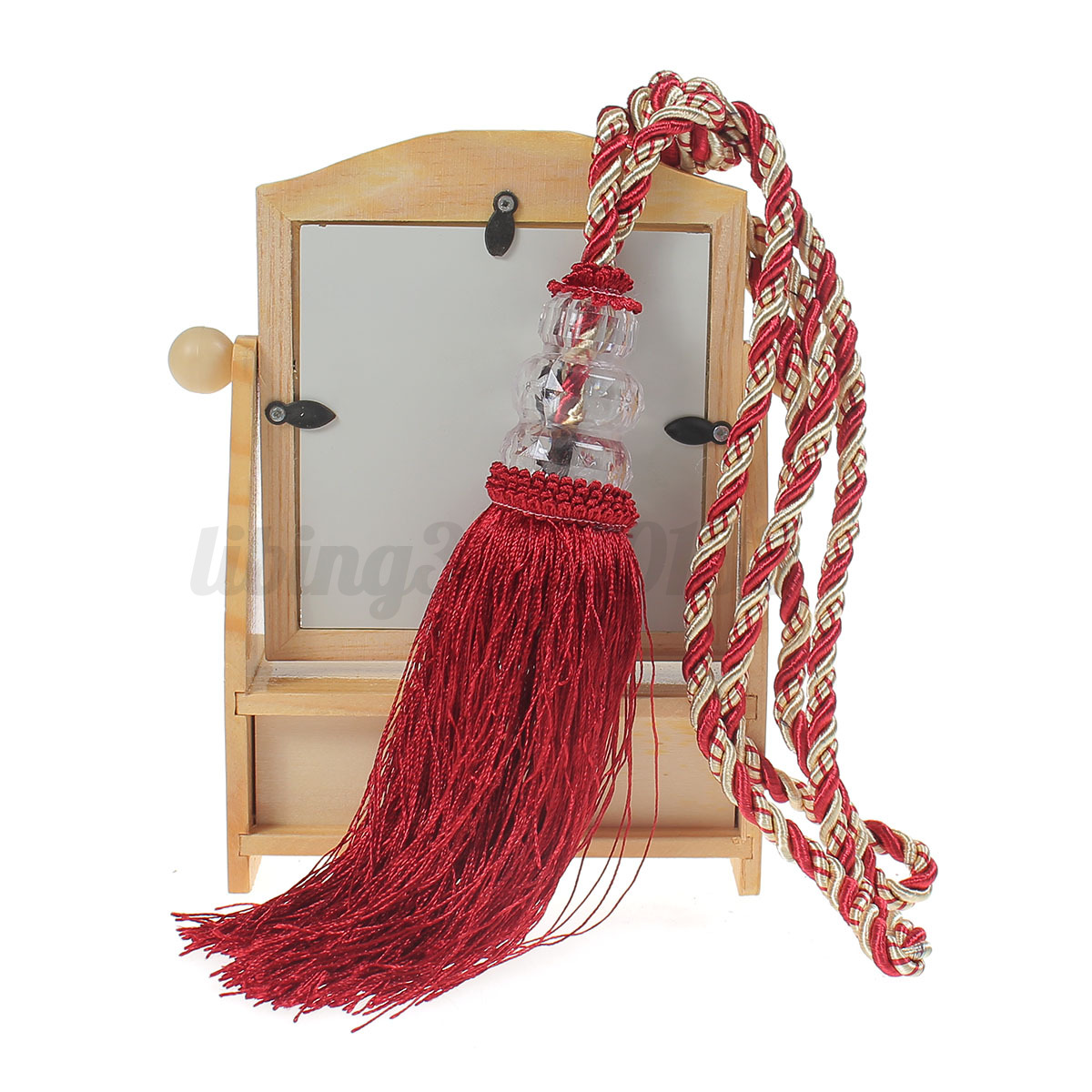 2x perlen quasten raffhalter gardinen kordel tassel troddel anh nger vorhang19cm ebay. Black Bedroom Furniture Sets. Home Design Ideas