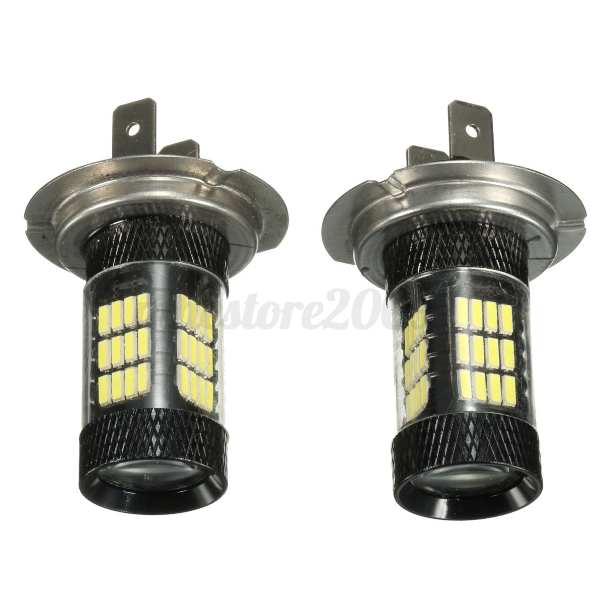 2pcs 6000k bright white h7 57 smd led bulbs headlight fog. Black Bedroom Furniture Sets. Home Design Ideas
