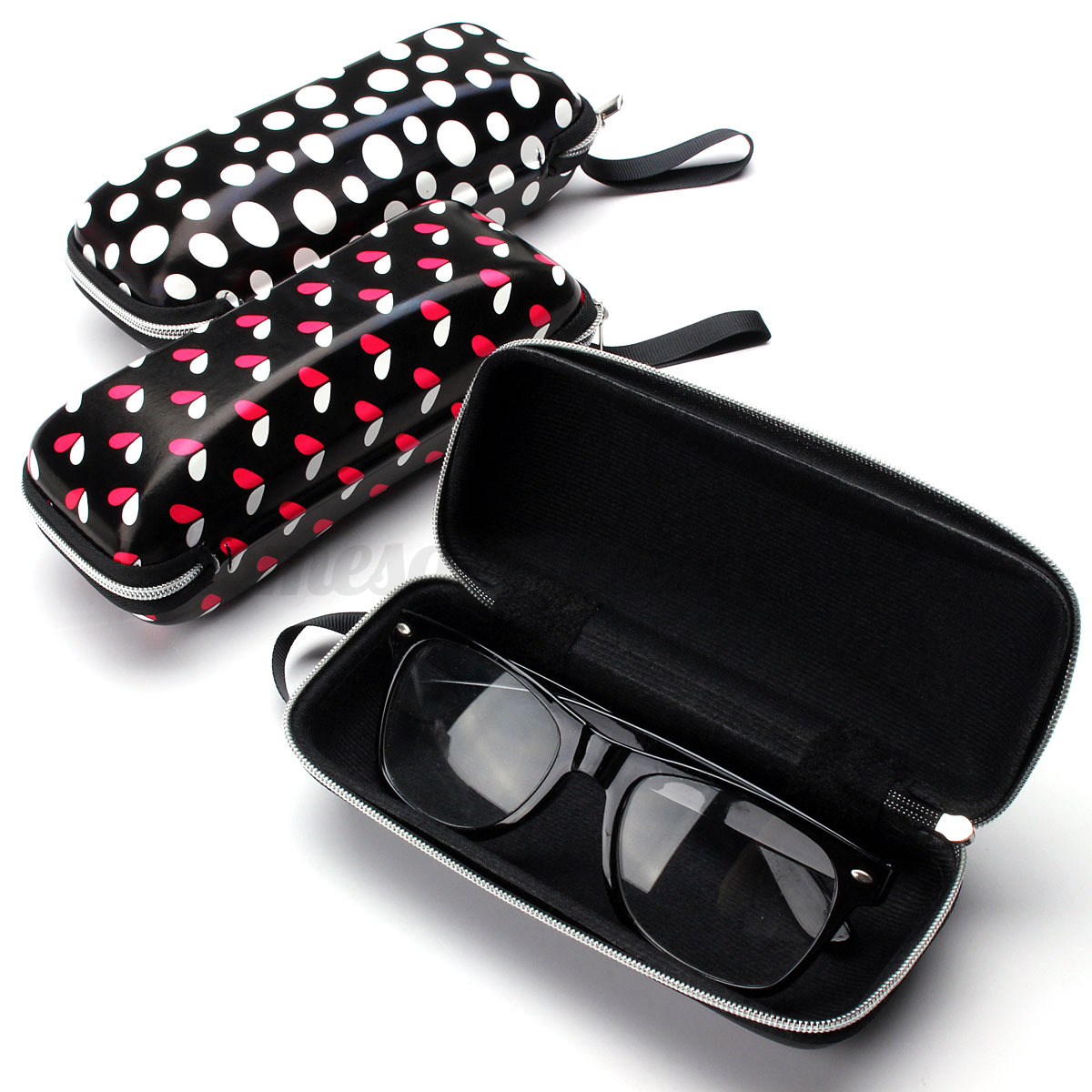 leather eyeglasses sunglasses box zipper eyewear glasses