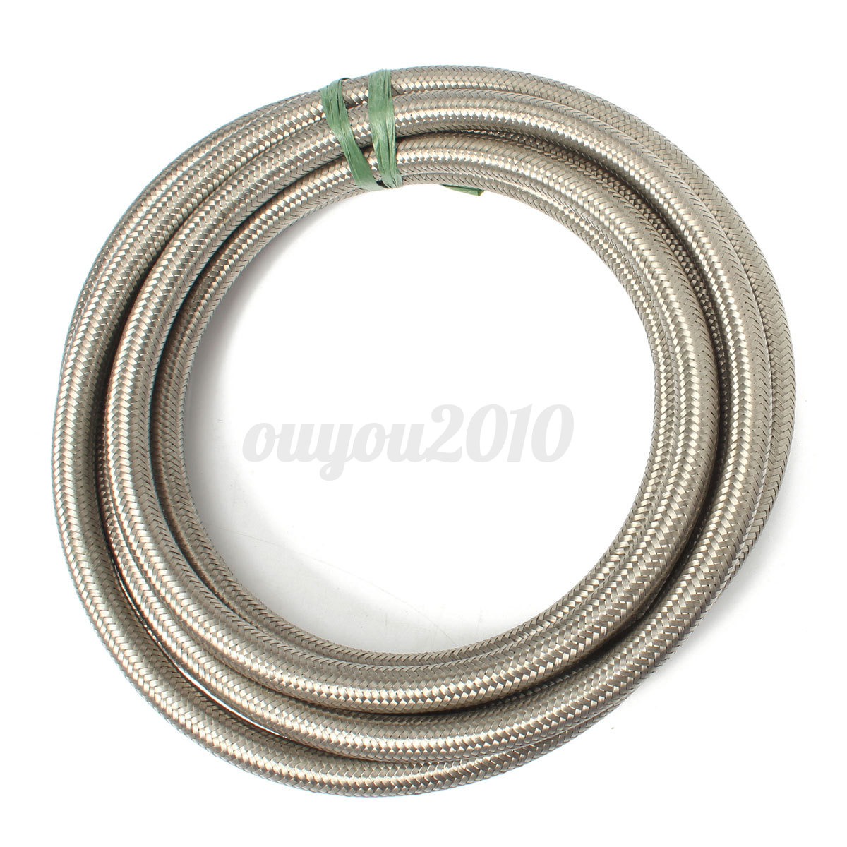 An stainless steel braided oil fuel line fitting