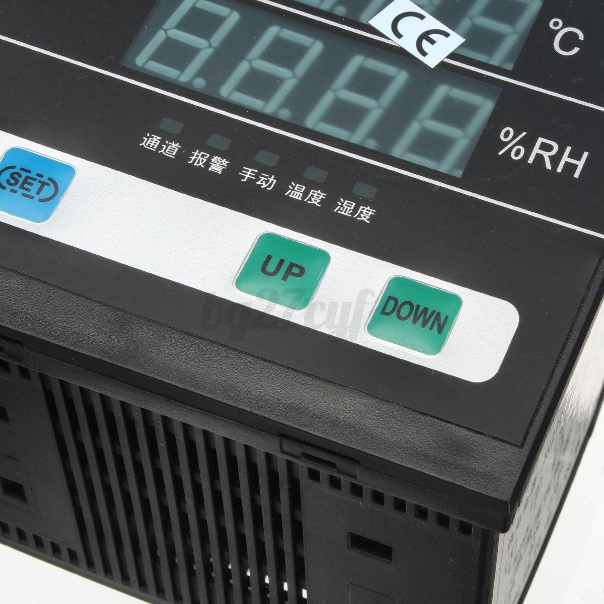 AC 220V Digital Temperature Humidity Control Controller 4 core Signal  #2480A7