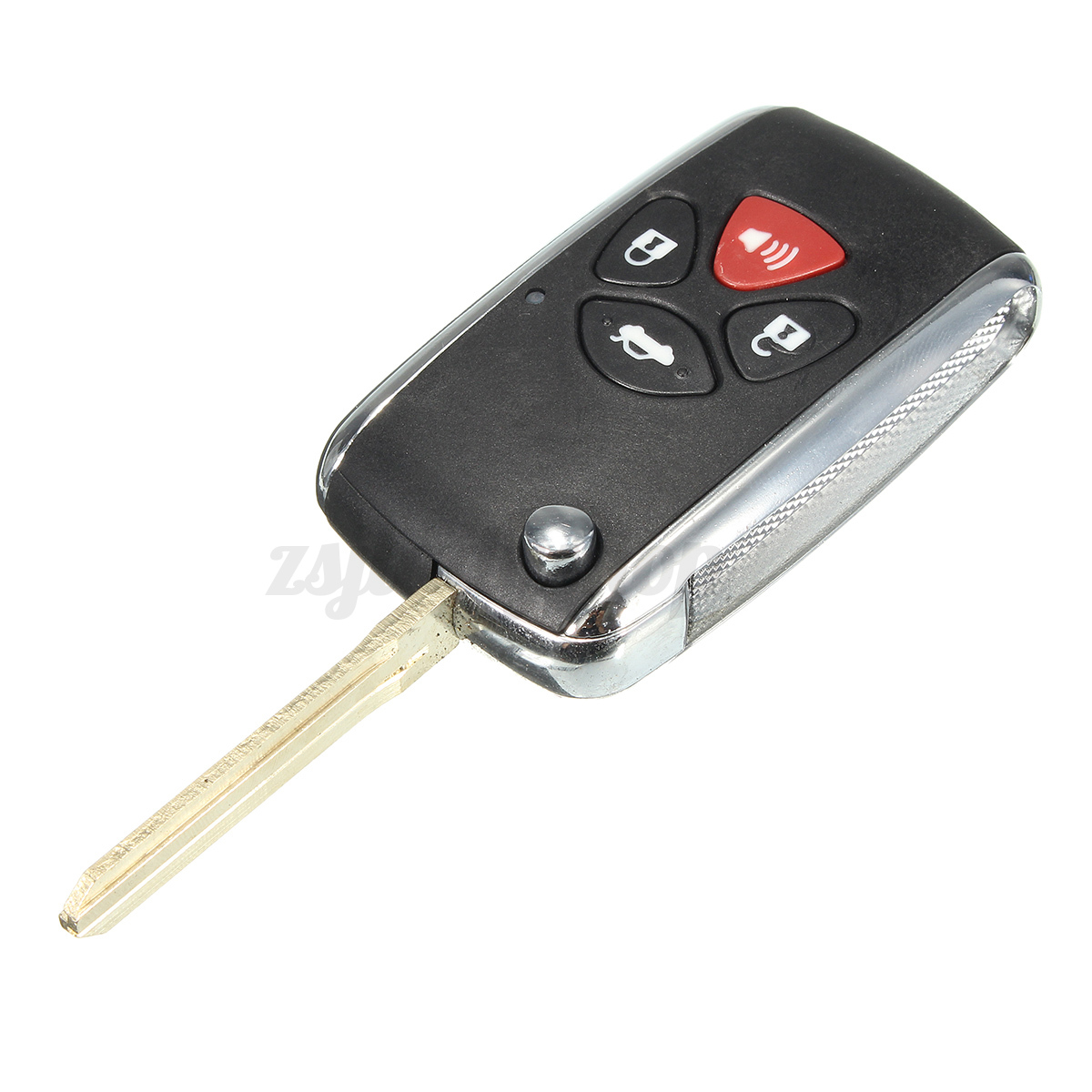 4 buttons remote key shell case flip fob for toyota camry avalon corolla rav4 ebay. Black Bedroom Furniture Sets. Home Design Ideas