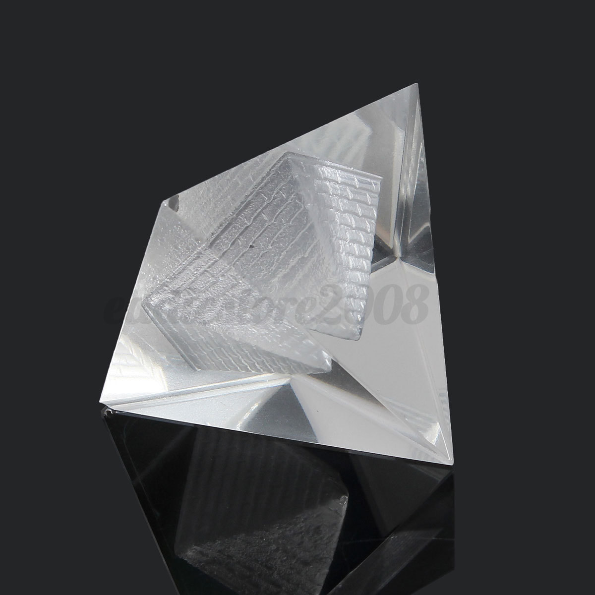 Crystal pyramid egypt egyptian clear quartz stone Crystal home decor