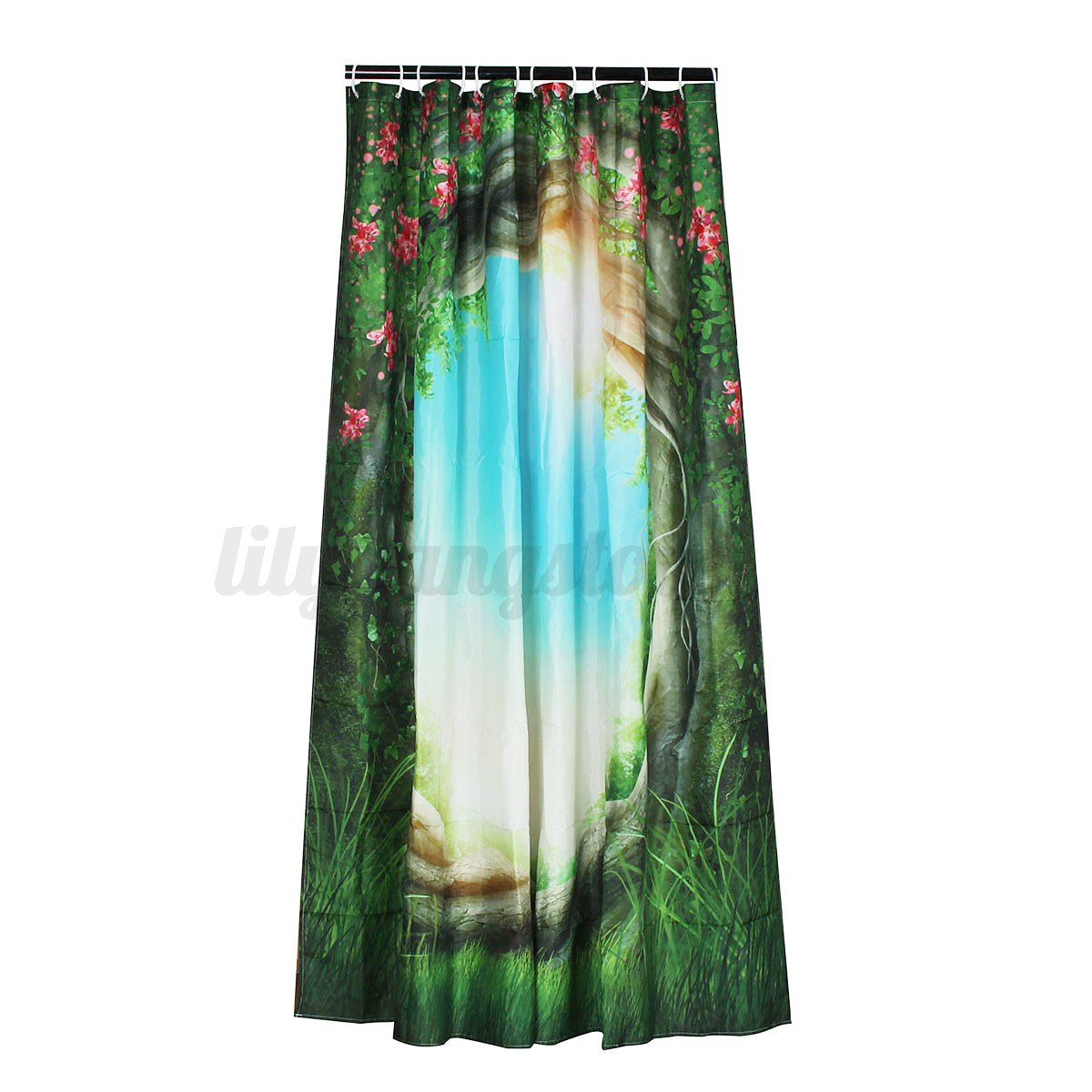 Moonlight Over Shower Curtain Fabric Magical Tree Enchanted Forest Bath Decor Ebay