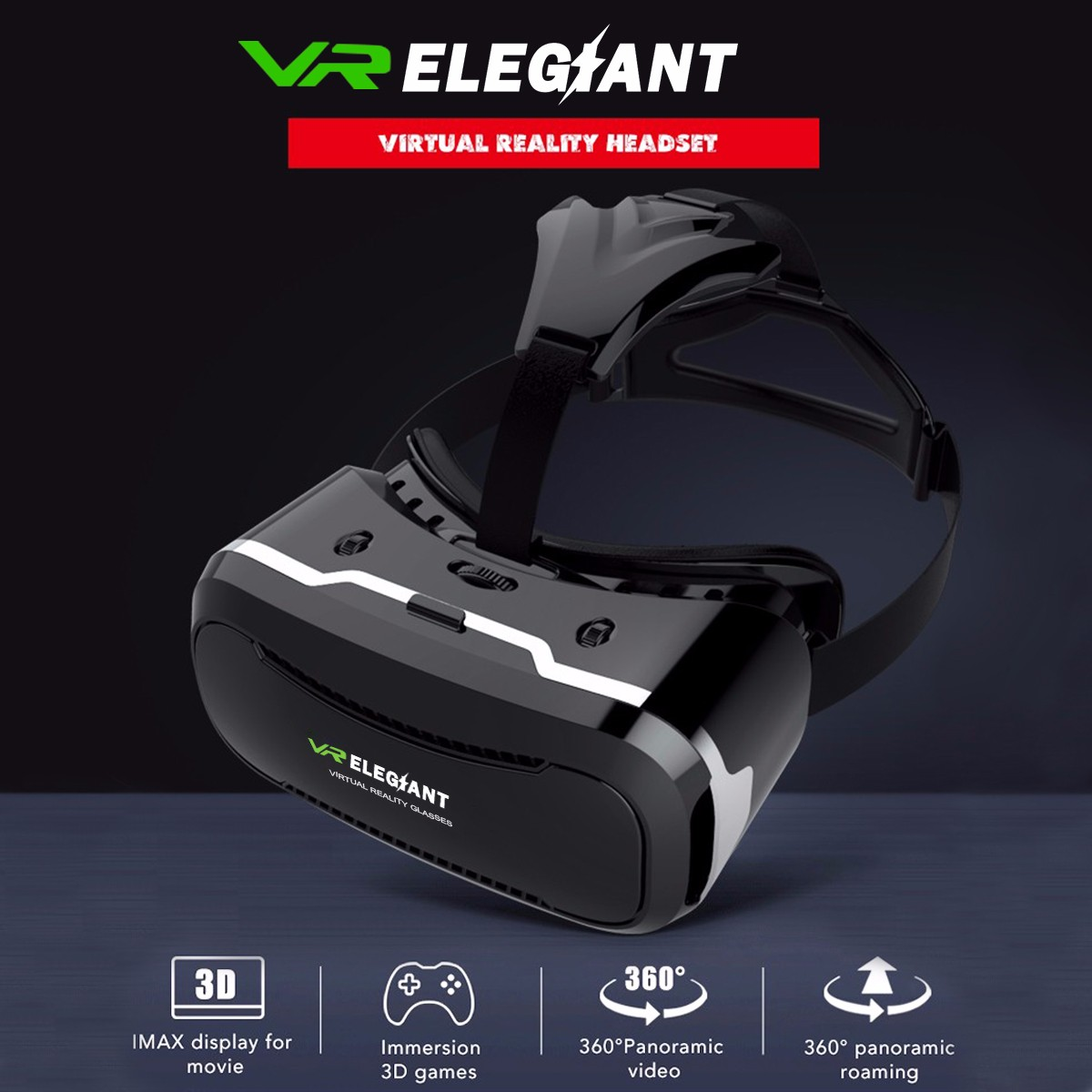 ELEGIANT VR 3D Glasses Virtual Reality Headset Google For iPhone 7 6 Samsung