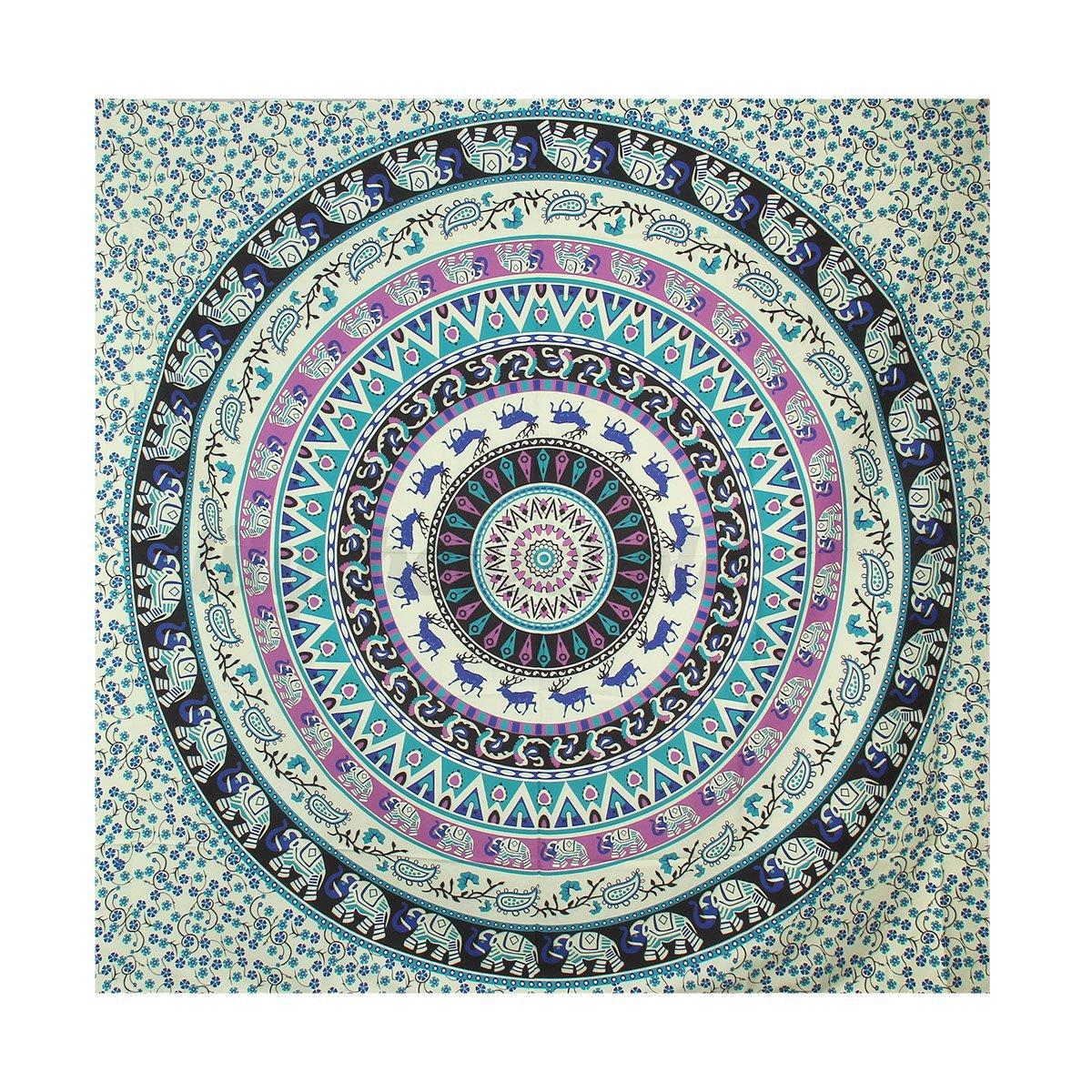 indisch mandala tapisserie wandbehang wandteppich strand. Black Bedroom Furniture Sets. Home Design Ideas