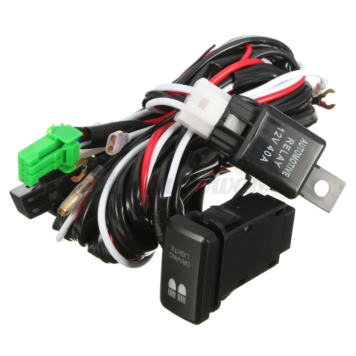 led driving light wiring loom harness relay 40a switch. Black Bedroom Furniture Sets. Home Design Ideas