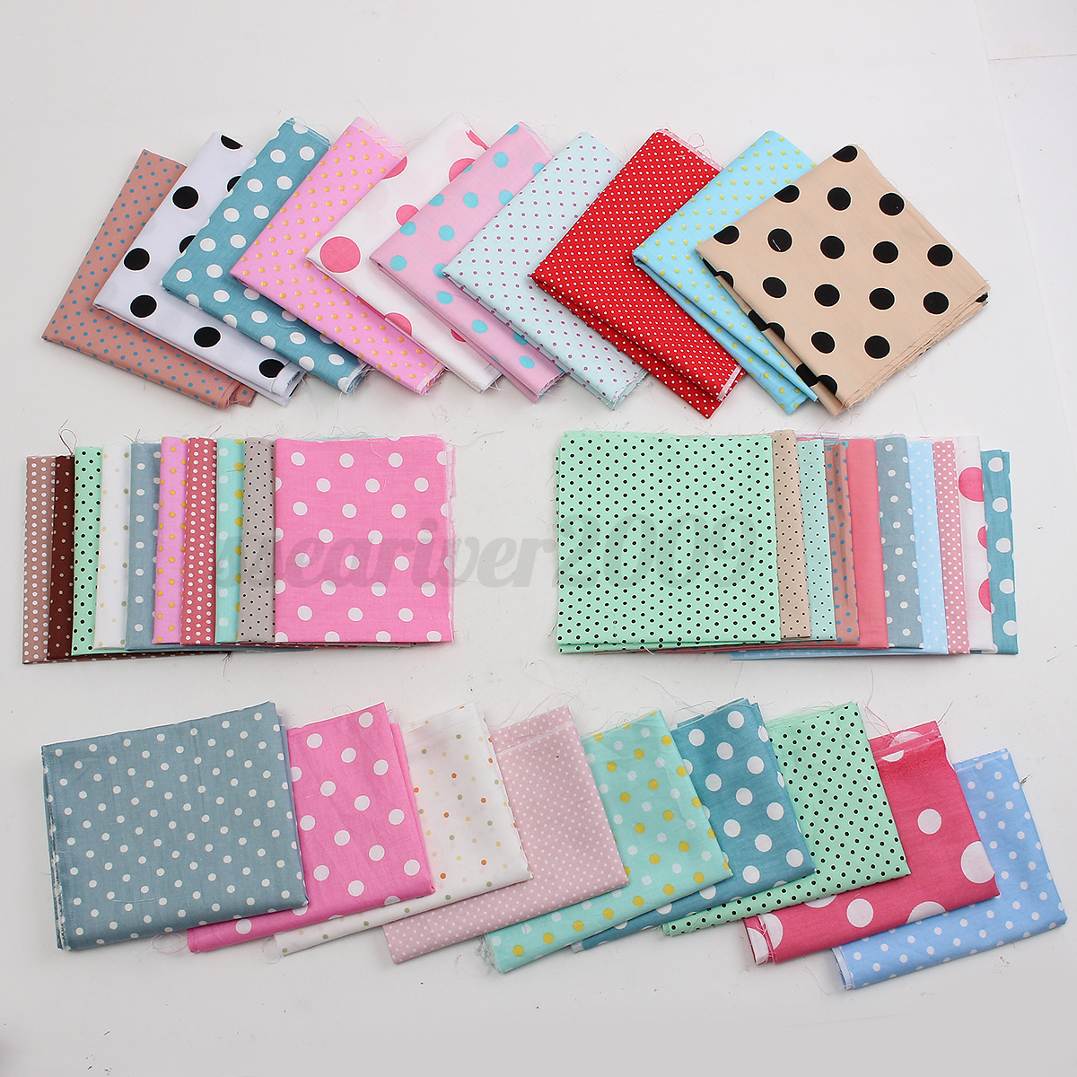 10pcs colorful floral fabric cotton cloth diy sewing quilt for Cotton sewing material