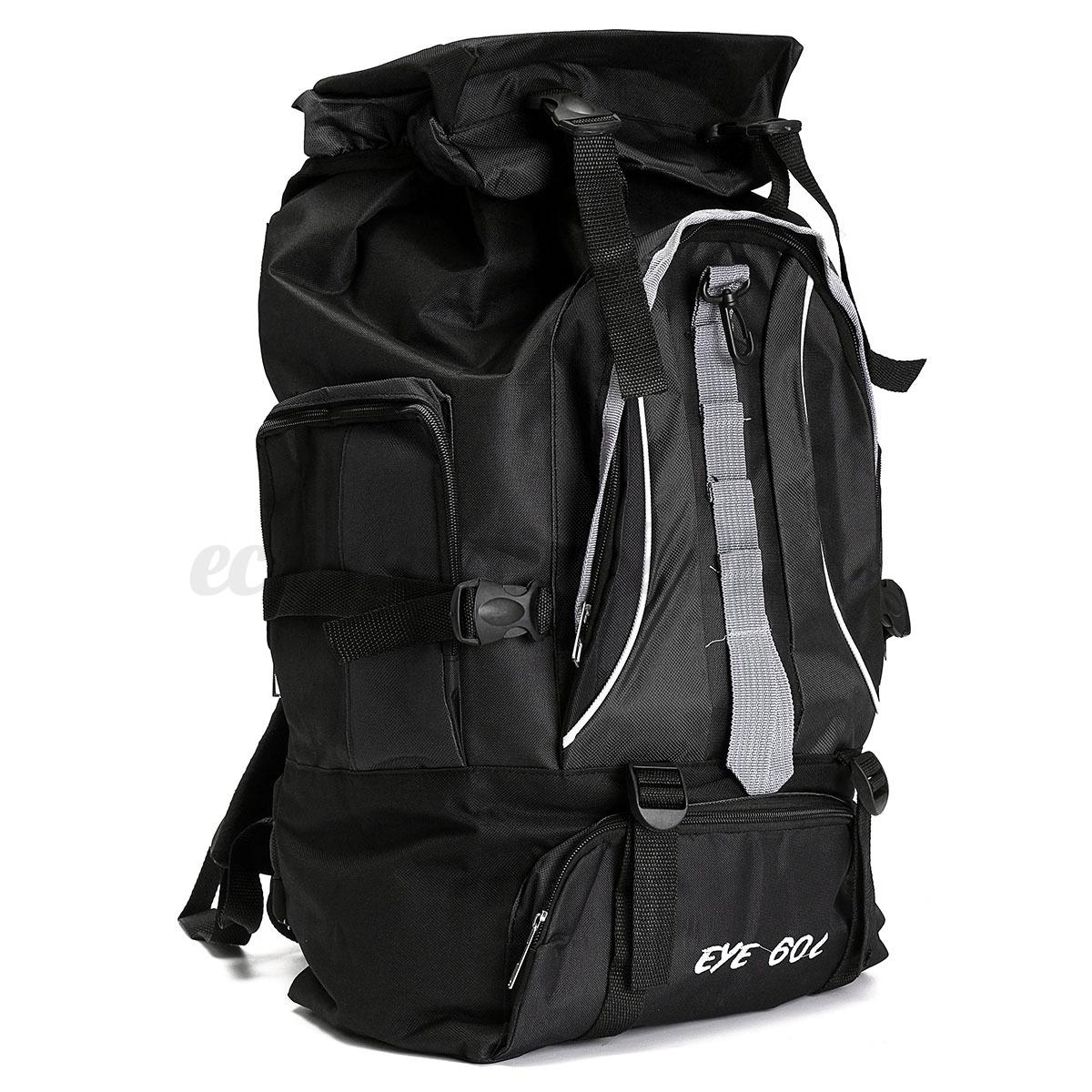 60L Waterproof Rucksack Backpack Outdoor Camping Hiking Trekking ...