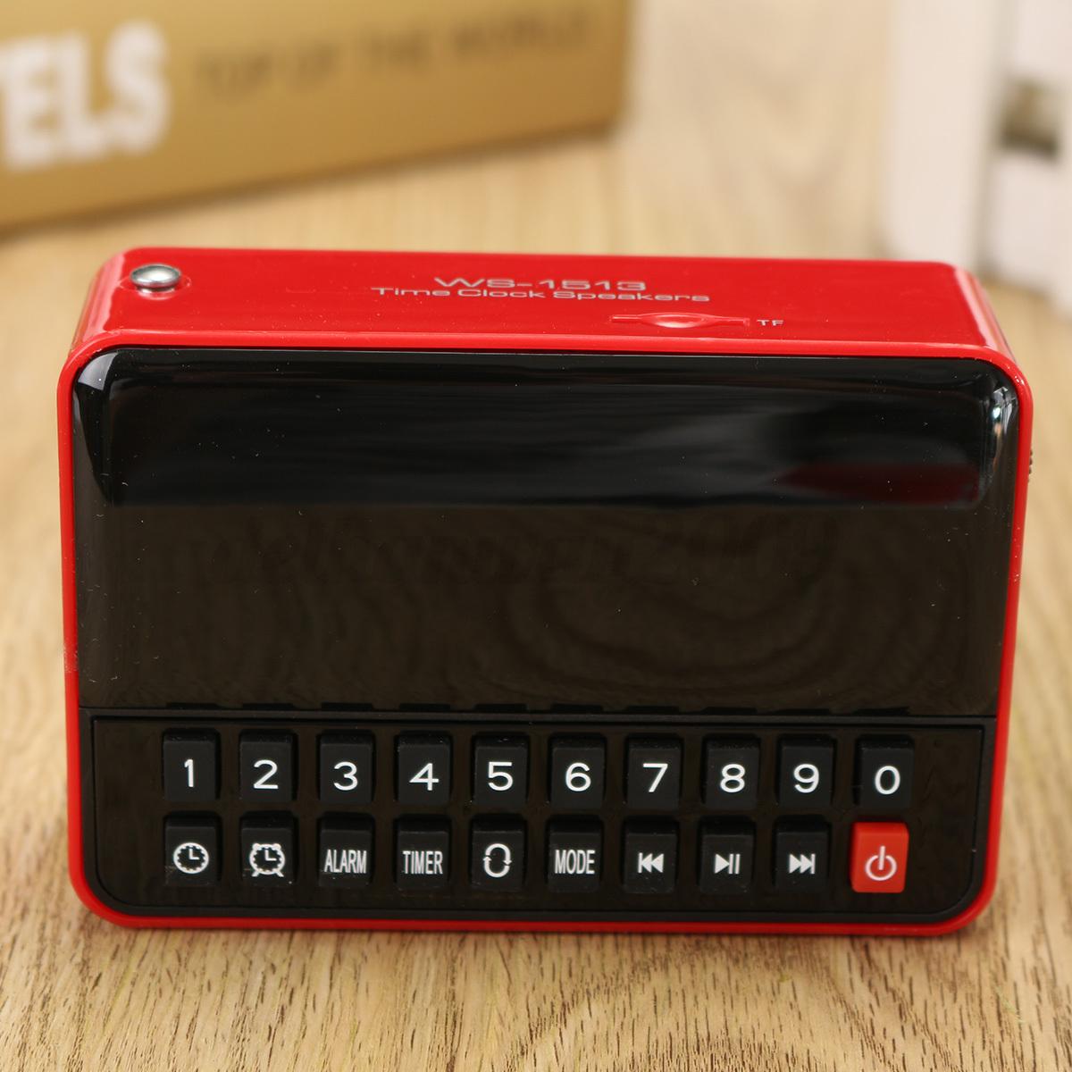 Digital Alarm Clock LED Large Display TF USB Speaker Music Palyer FM Radio MP3