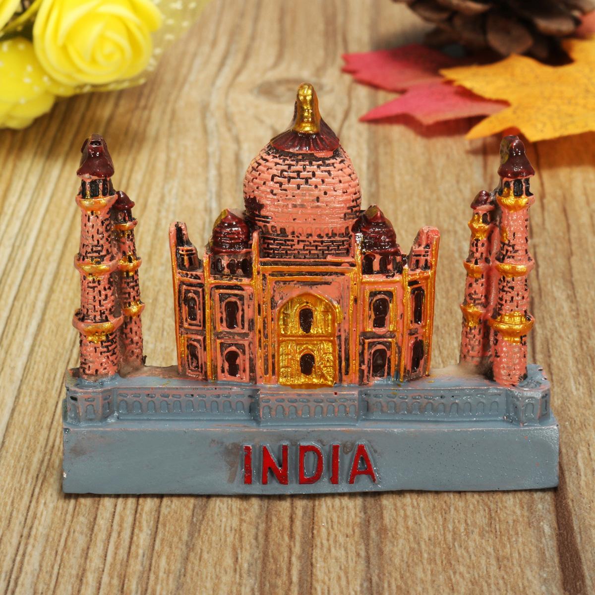 3D Resin Fridge Magnet India Taj Mahal Tourist  Souvenir Gift Decoration - Photo: 1