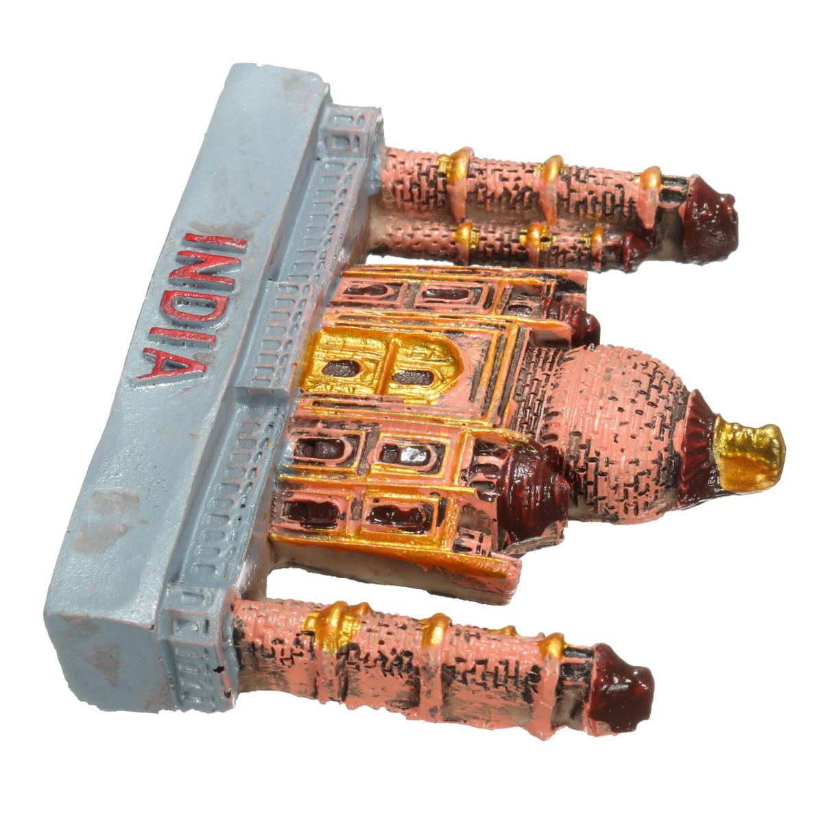 3D Resin Fridge Magnet India Taj Mahal Tourist  Souvenir Gift Decoration - Photo: 3