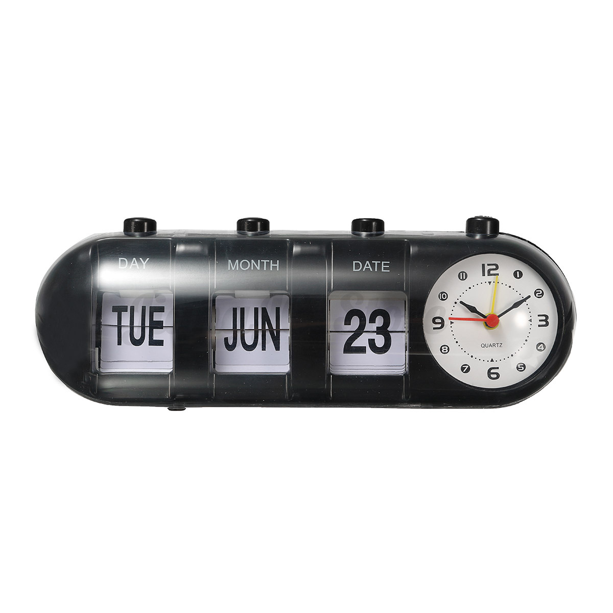 retro manual flip digital quartz alarm clock calendar time home desk table decor ebay. Black Bedroom Furniture Sets. Home Design Ideas