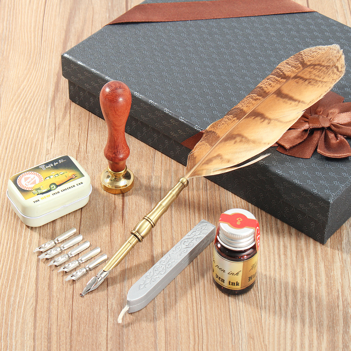 Vintage-Quill-Feather-Dip-Pen-Writing-Ink-Luxury-Stationery-Set-with-Gift-Box