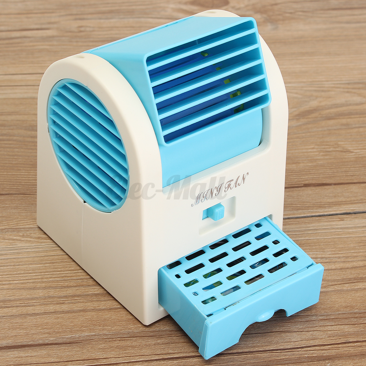 Air Conditioner Fan : Mini small fan cooling portable desktop dual bladeless air