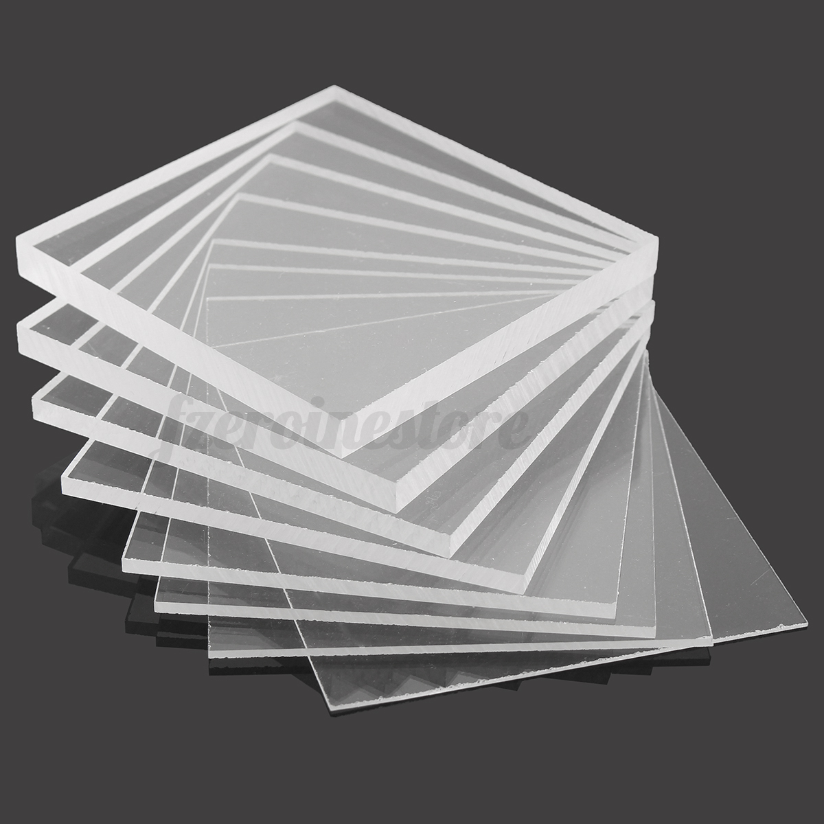 Clear acrylic perspex plastic sheet greenhouse glass for Glass or acrylic