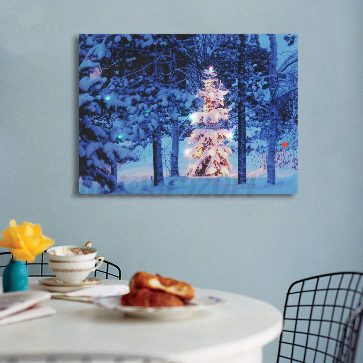 Led light up christmas canvas pictures 30x40cm xmas for Light up christmas decorations