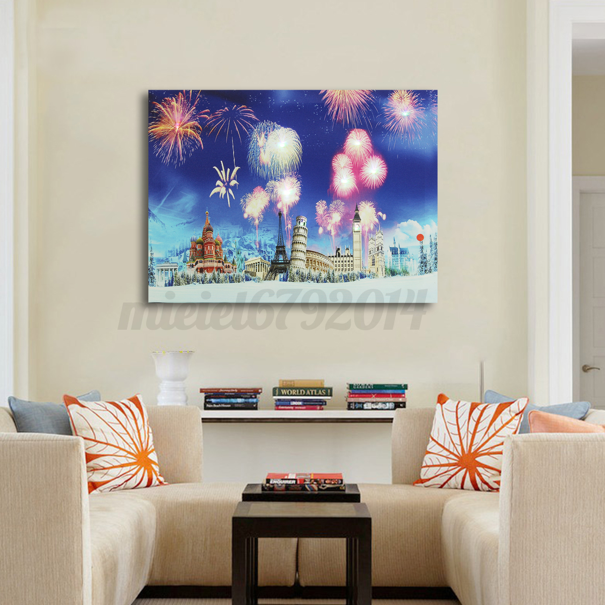 Hanging up wall decor : Led light up christmas canvas pictures cm xmas