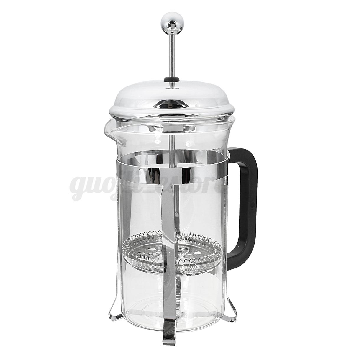 600ml french press coffee plunger maker leaf carafe stainless steel filter bodum ebay. Black Bedroom Furniture Sets. Home Design Ideas
