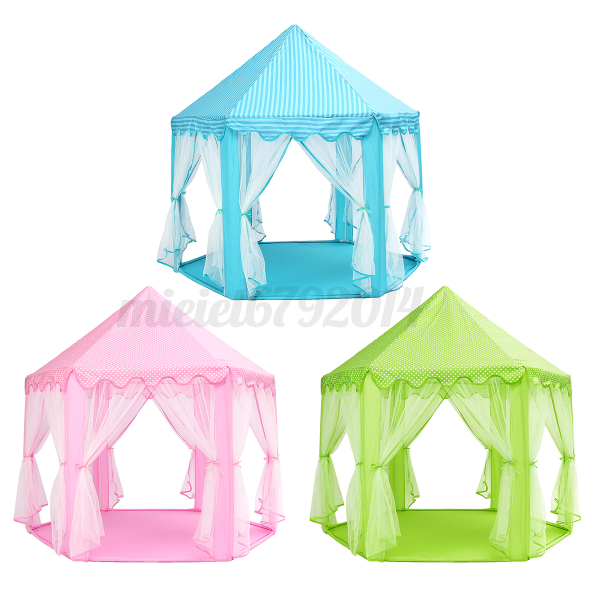 portable girls pink princess castle play tent activity fairy house fun playhouse ebay. Black Bedroom Furniture Sets. Home Design Ideas