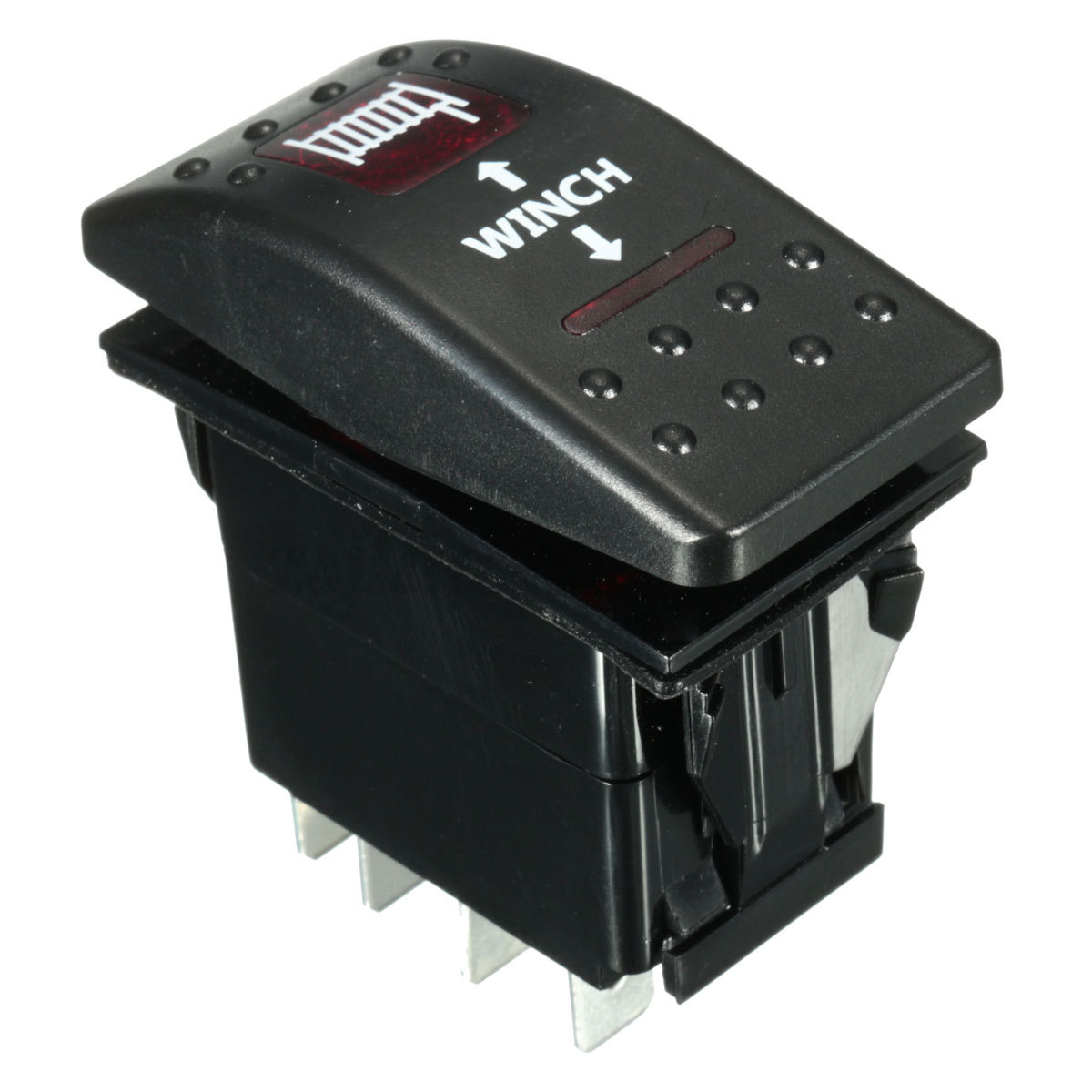 7Pin Laser    Momentary       Rocker       Switch    Winch In Winch Out    12V     ON OFF Red LED Light   eBay