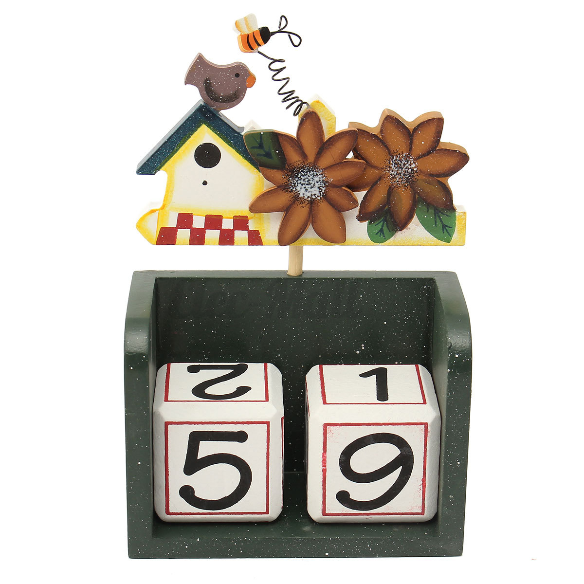 Calendar Blocks Diy : Reusable block wooden four season perpetual calendar month