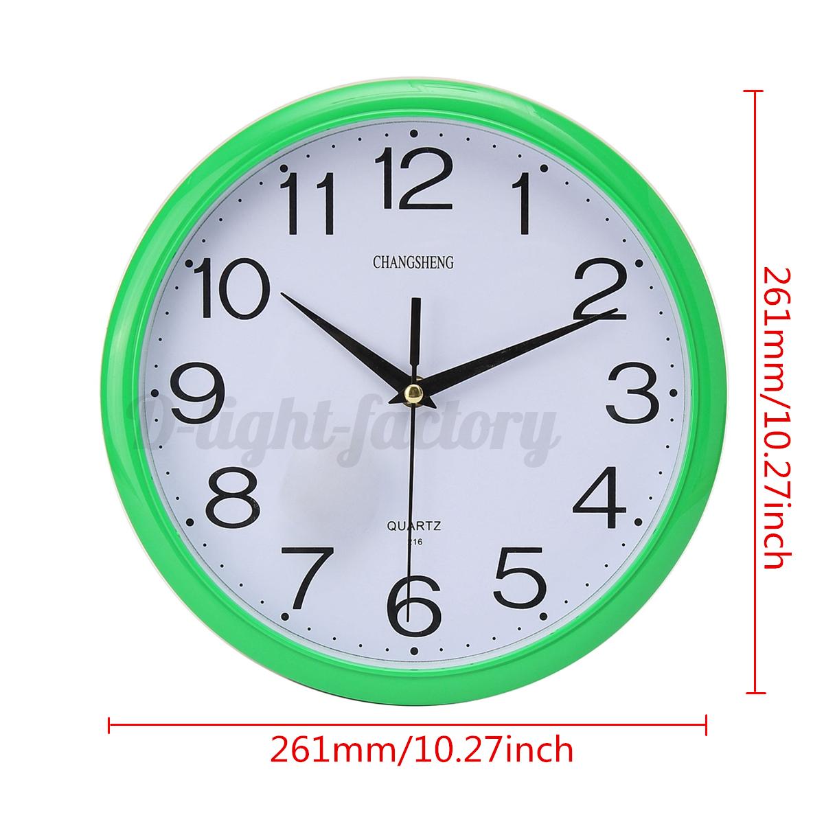Moderne horloge mural temps clock ronde r tro vintage - Horloge pour cuisine moderne ...