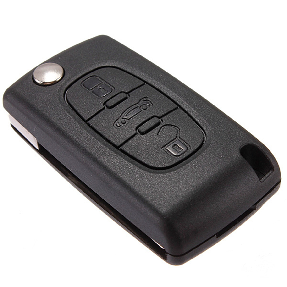 3 button remote key fob case shell uncut blade for citroen c4 grand picasso new ebay. Black Bedroom Furniture Sets. Home Design Ideas
