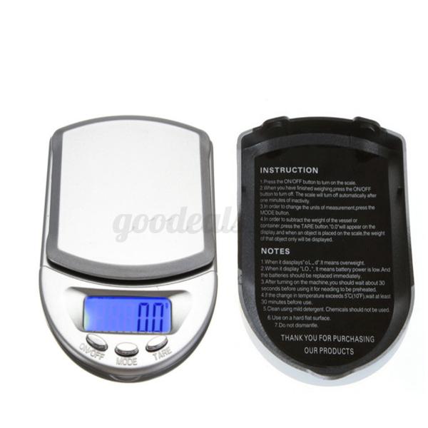 500g peso digital precision de balanza cocina