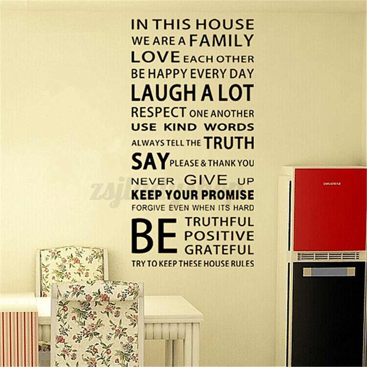 Playroom Rule Word Removable Art Wall Sticker Decal Family Kids ...