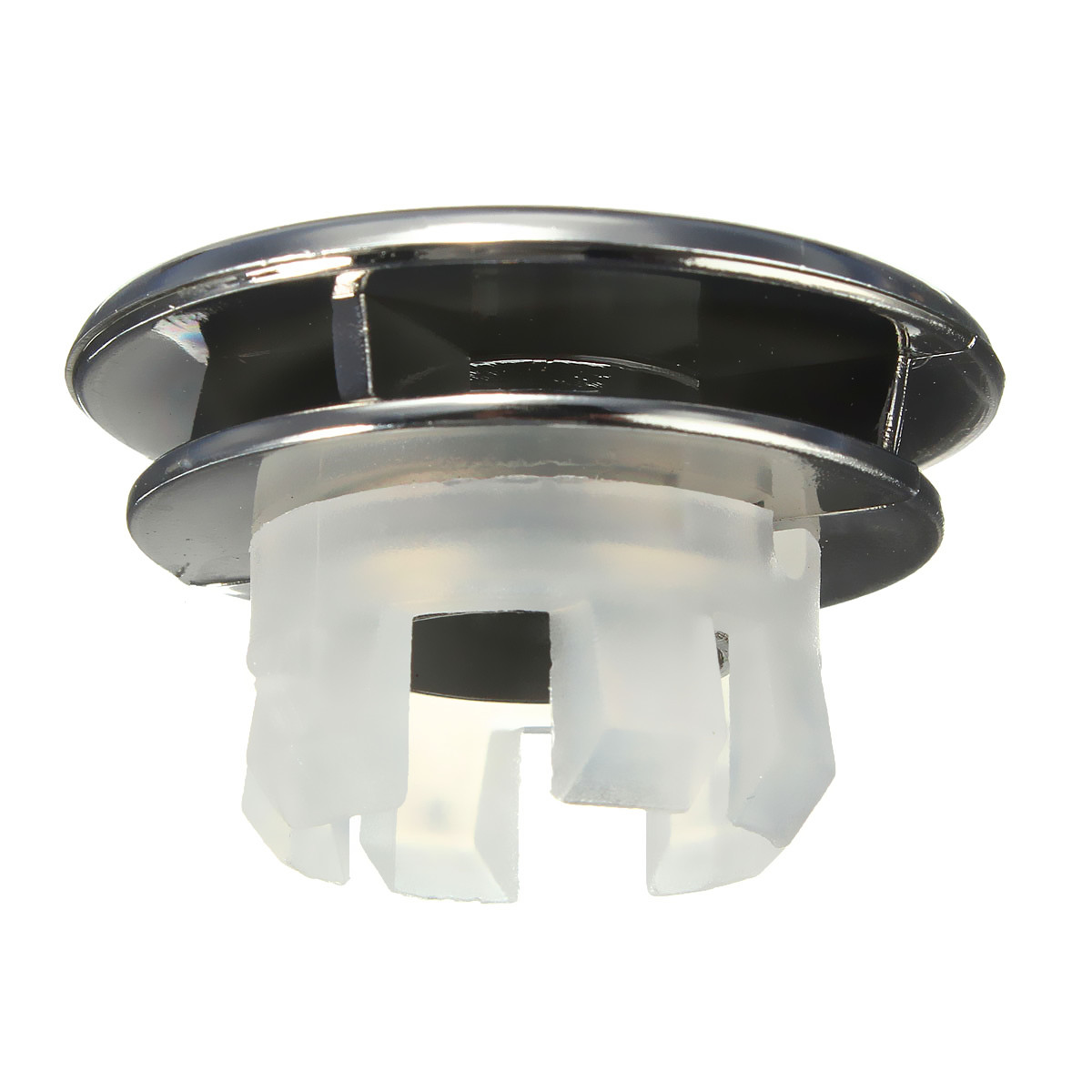 Round Overflow Cover Tidy Trim Chrome For Bathroom Basin