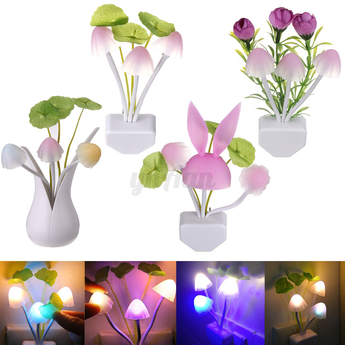 led nachtlicht lampe notlicht sensor licht wand leuchte steckdose baby kinder bo ebay. Black Bedroom Furniture Sets. Home Design Ideas
