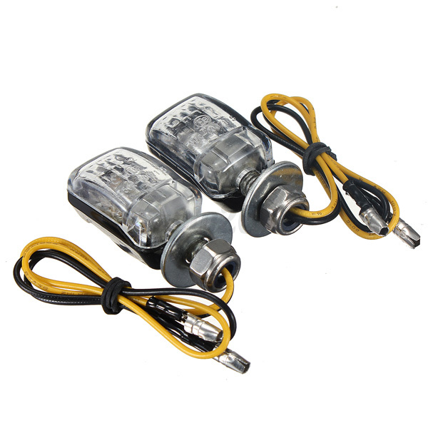 4x black 6 led motorcycle mini dirt bike turn signal. Black Bedroom Furniture Sets. Home Design Ideas