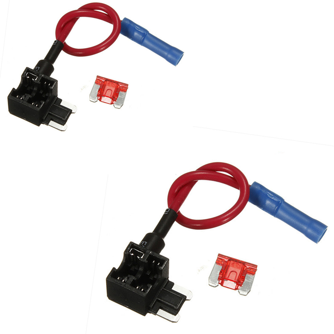 2 Pcs 12v Add A Circuit Micro Blade Fuse Box Holder Aps Att Piggy Automotive Tap Detail Image