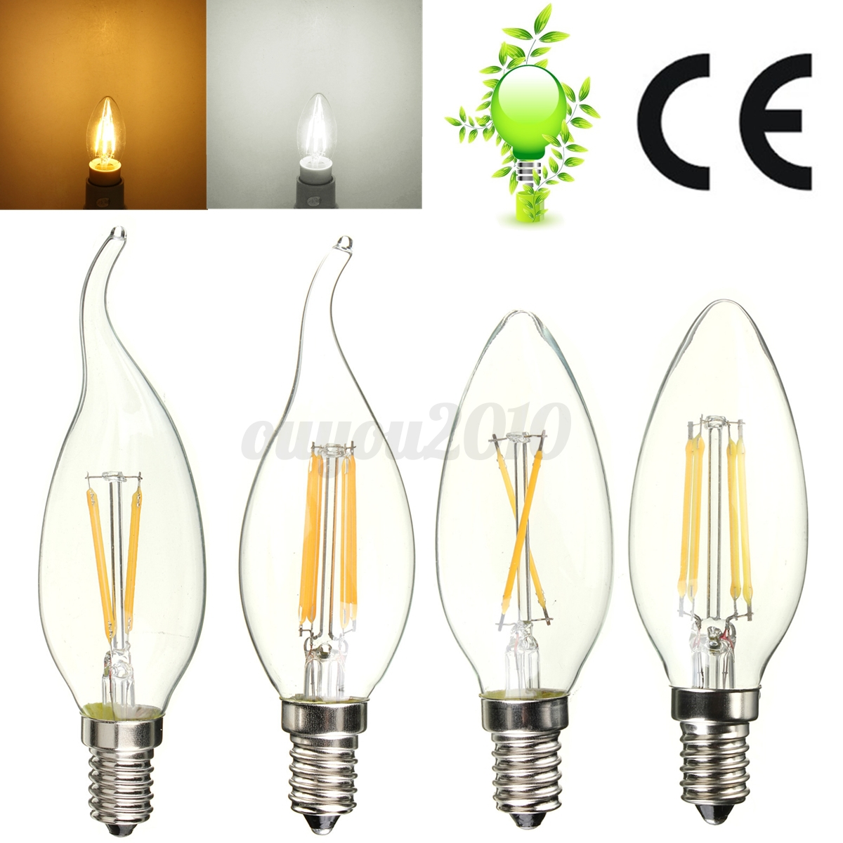 e14 2w 4w edison cob led filament gl hbirne kerzen lampe. Black Bedroom Furniture Sets. Home Design Ideas