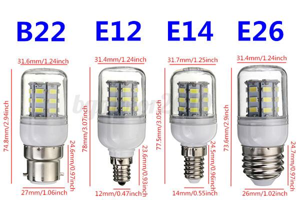 e12 e14 e27 b22 g9 gu10 27 led 5730 5630 smd ampoule lampe corn bulb 12 24 220v eur 1 19. Black Bedroom Furniture Sets. Home Design Ideas