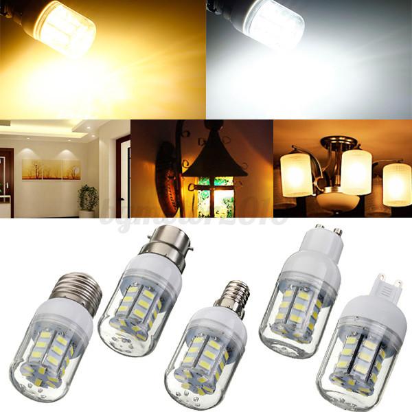 e12 e14 e27 b22 g9 gu10 27 led 5730 5630 smd ampoule lampe corn bulb 12 24 220v ebay. Black Bedroom Furniture Sets. Home Design Ideas