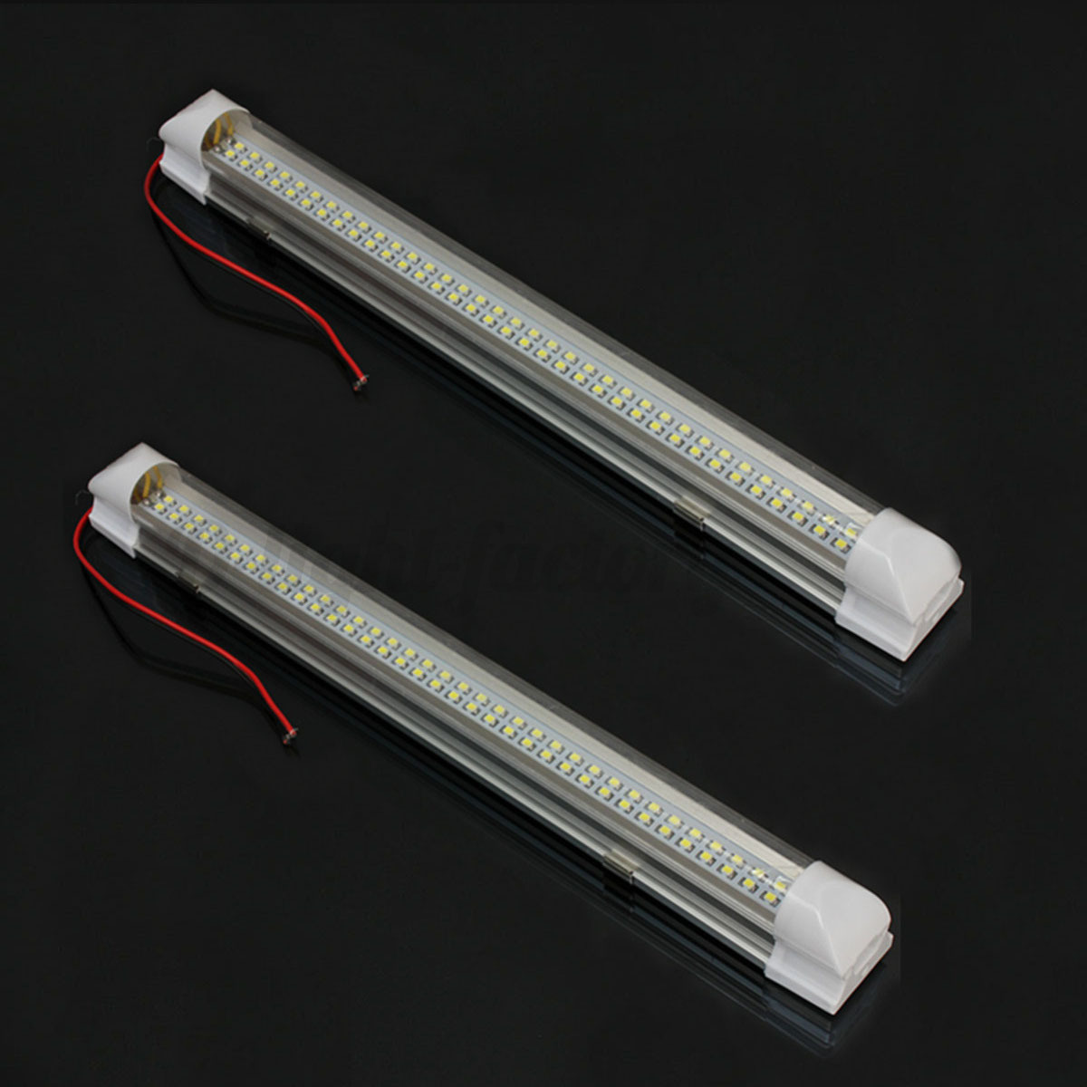 2x 12 volt 72 leds interior light strip bar car van bus caravan on off switch ebay. Black Bedroom Furniture Sets. Home Design Ideas