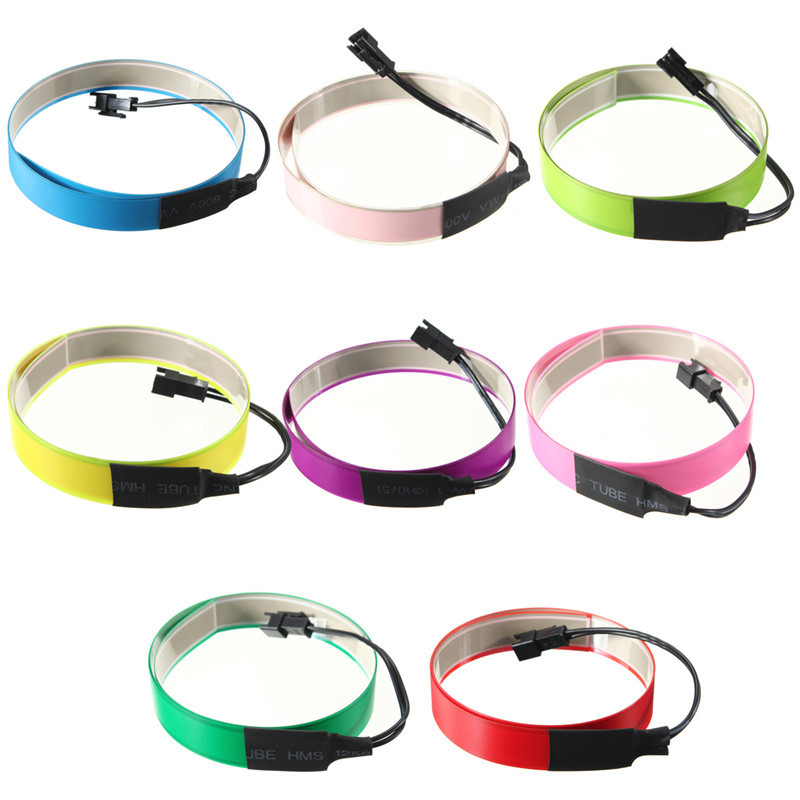 Flexible Electroluminescent Tape EL Wire Glow Light With 12V Battery ...