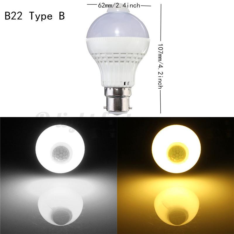 b22 e27 e14 5w 220v 18 led motion control pir sensor light. Black Bedroom Furniture Sets. Home Design Ideas