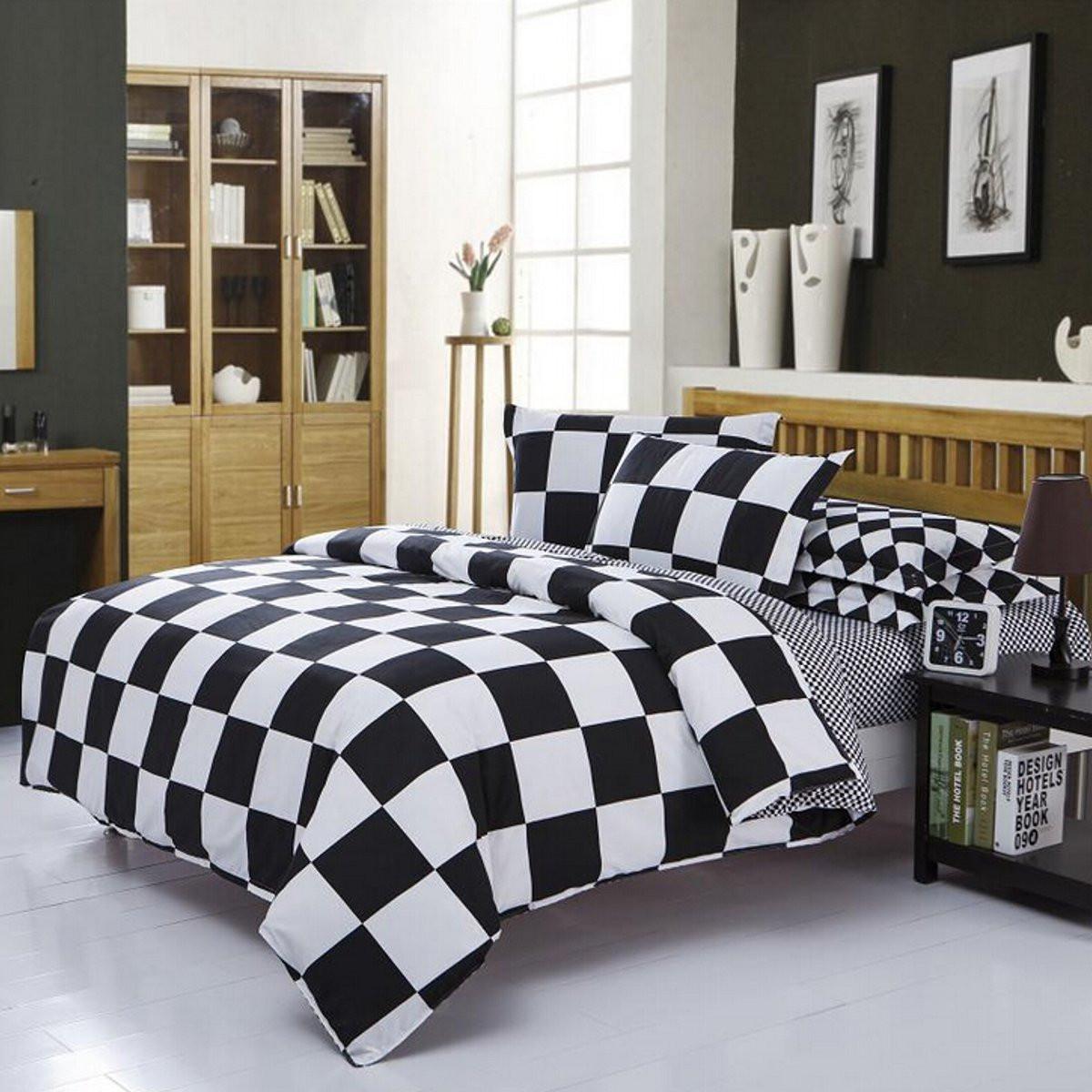 single double queen king size bedding sets pillow case sheet quilt duvet cover ebay. Black Bedroom Furniture Sets. Home Design Ideas