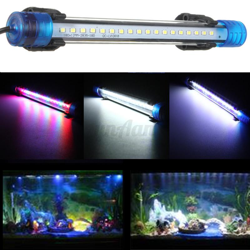 aquarium fish tank waterproof blue white rgb led light bar. Black Bedroom Furniture Sets. Home Design Ideas