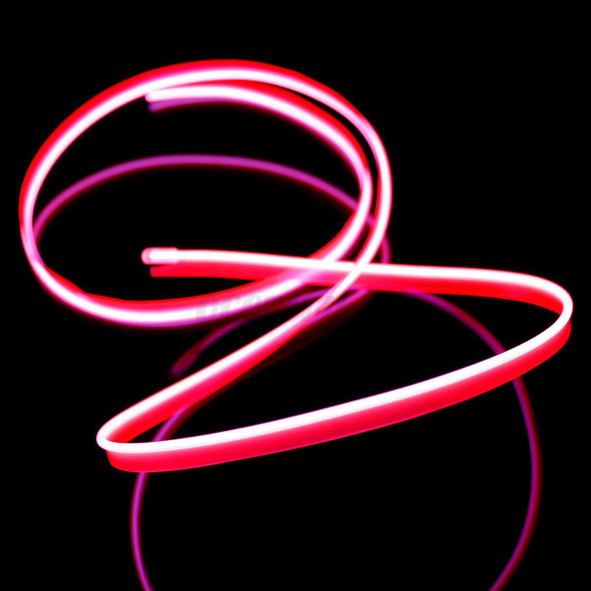 1m Auto EL Neon Kabel Licht Effekt Lichtschnur Leuchtschnur Draht ...