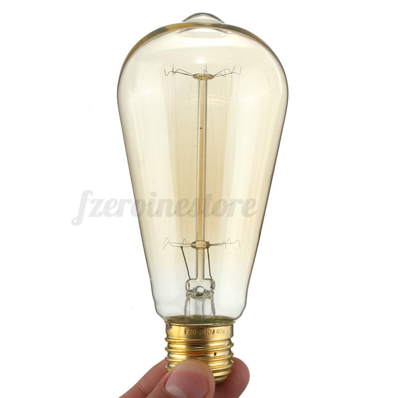 50pcs 40w Vintage Design Edison Filament B22 E27 Led Bulb: E27 60W Vintage Retro Industrial Edison Bombilla Filament