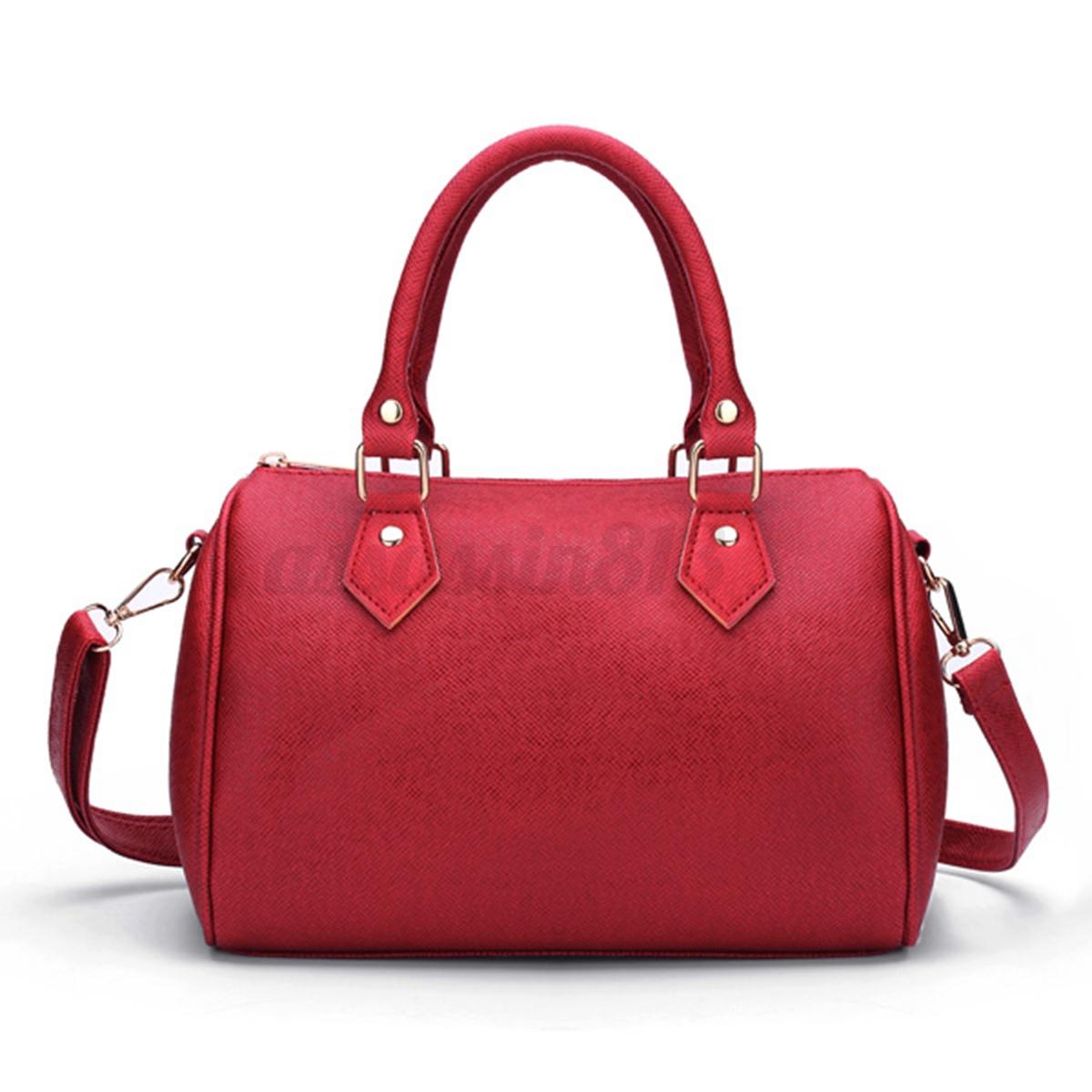 women leather handbag shoulder shopping bag tote lady. Black Bedroom Furniture Sets. Home Design Ideas